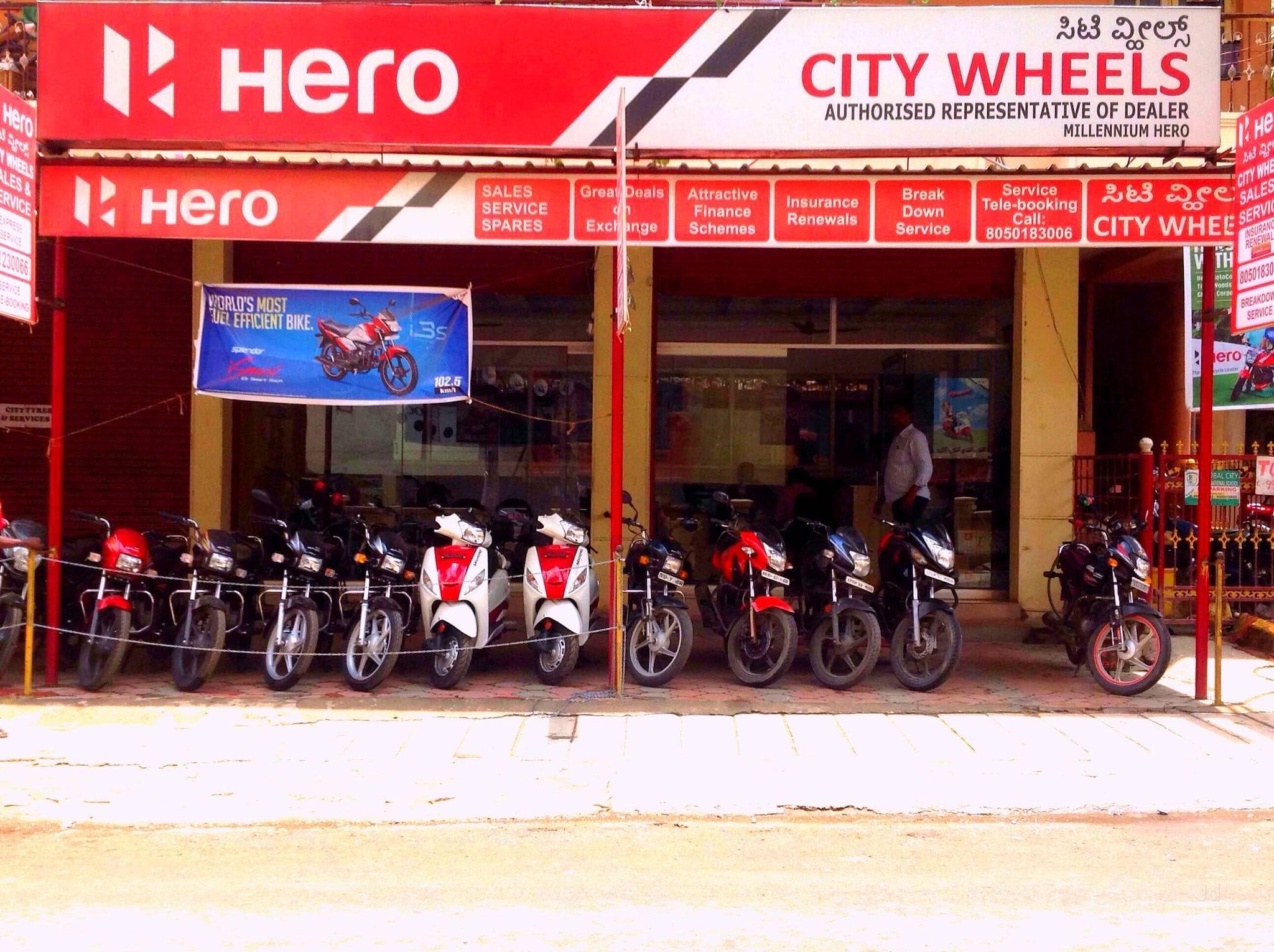 Top Hero Passion Motorcycle Dealers in Budigere - Best Hero