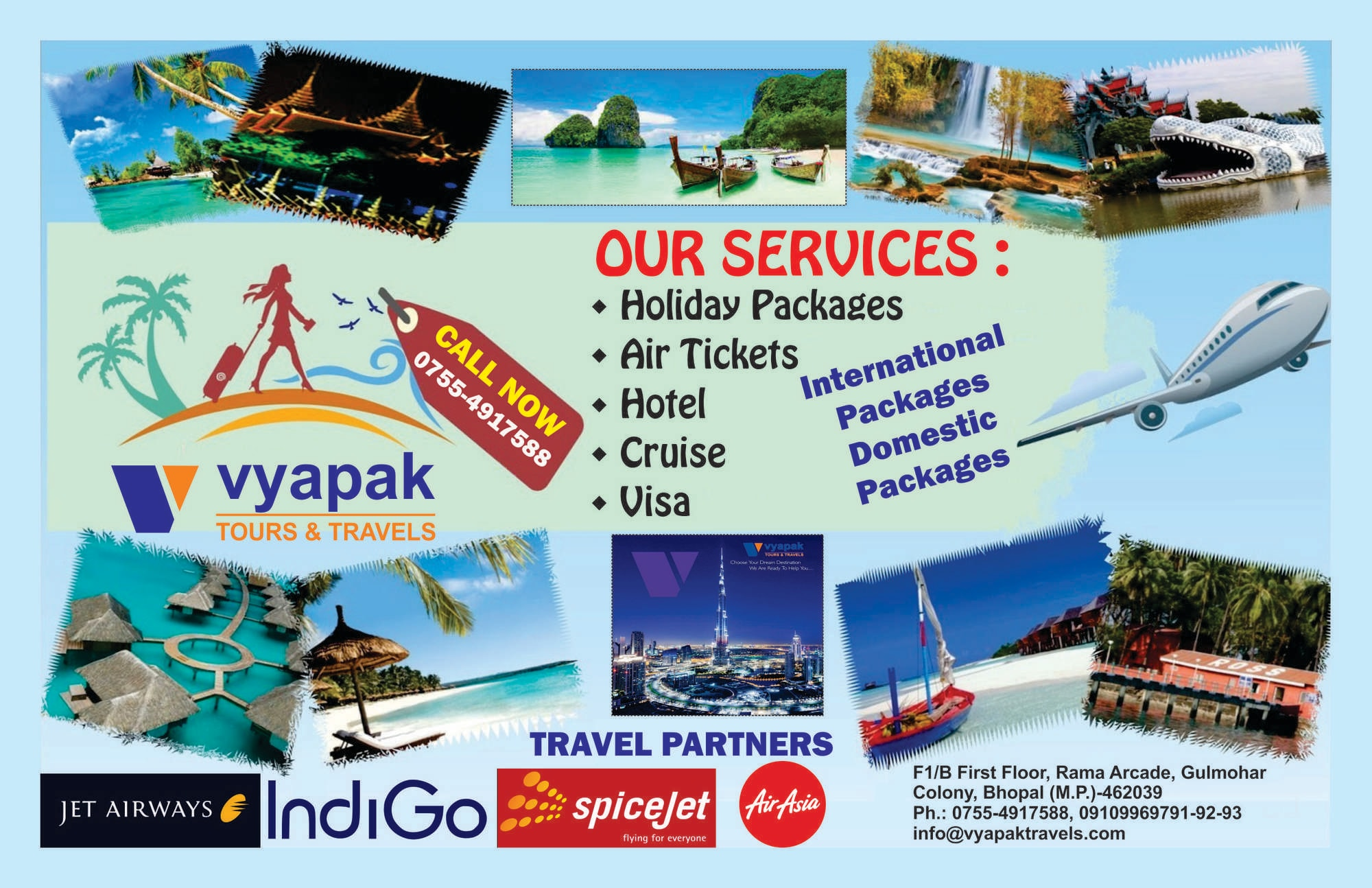 Top 100 Travel Agents in Trilanga, Bhopal - Best Travel