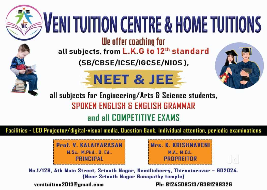 Top Home Tutors For CBSE Class XI Maths in Mylapore, Chennai - Best