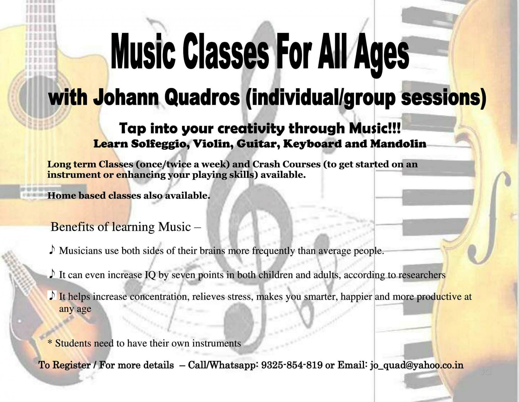 Top 10 Music Classes For Instrumental in Goa - Best Music
