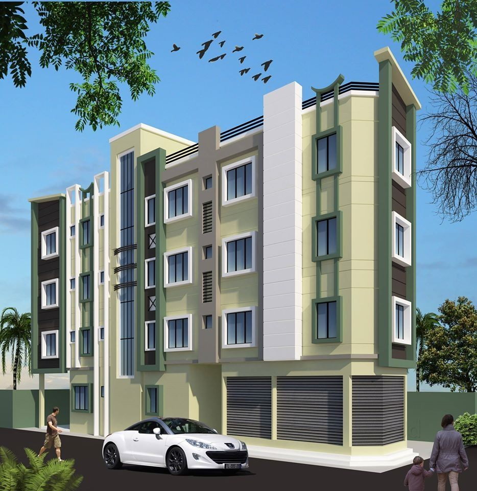 3d building elevation design 3d buildings elevation designs and plans photos suchitra junction - 3d Building Designs
