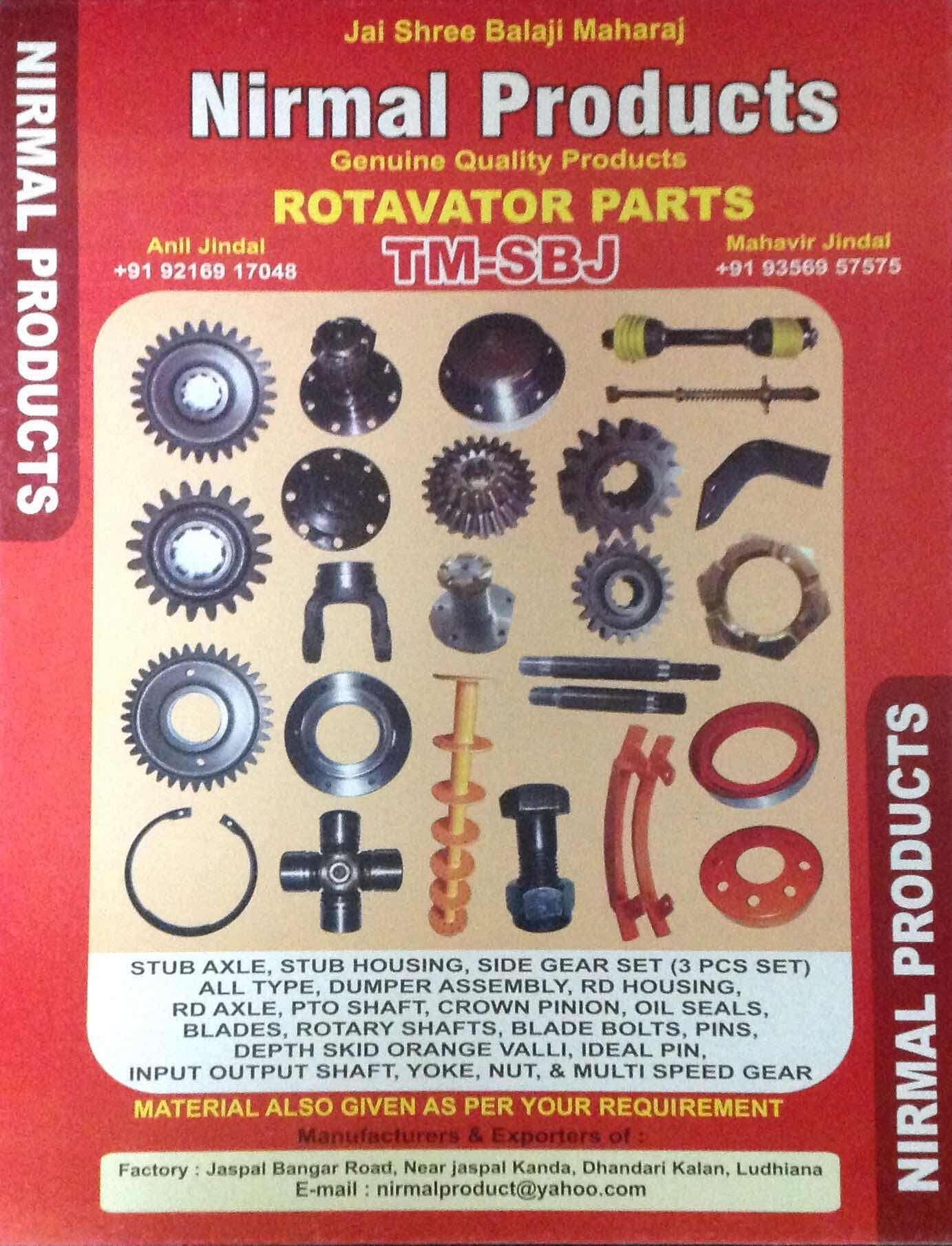 Top 30 Rotavator Spare Part Manufacturers in Sarabha Nagar Ludhiana