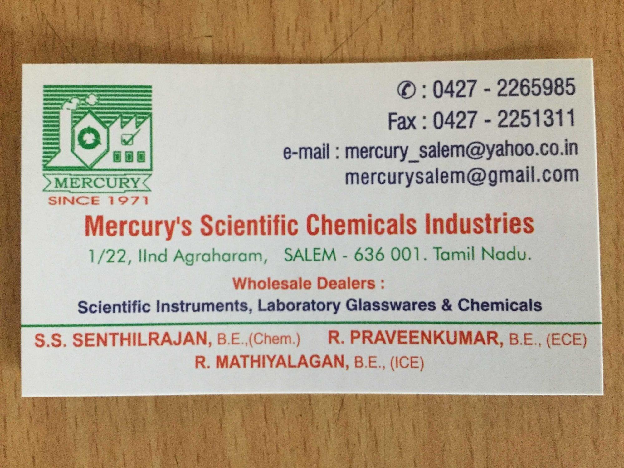 Mercurys scientific chemicals industries laboratory equipment mercurys scientific chemicals industries laboratory equipment dealers in salem justdial buycottarizona Choice Image