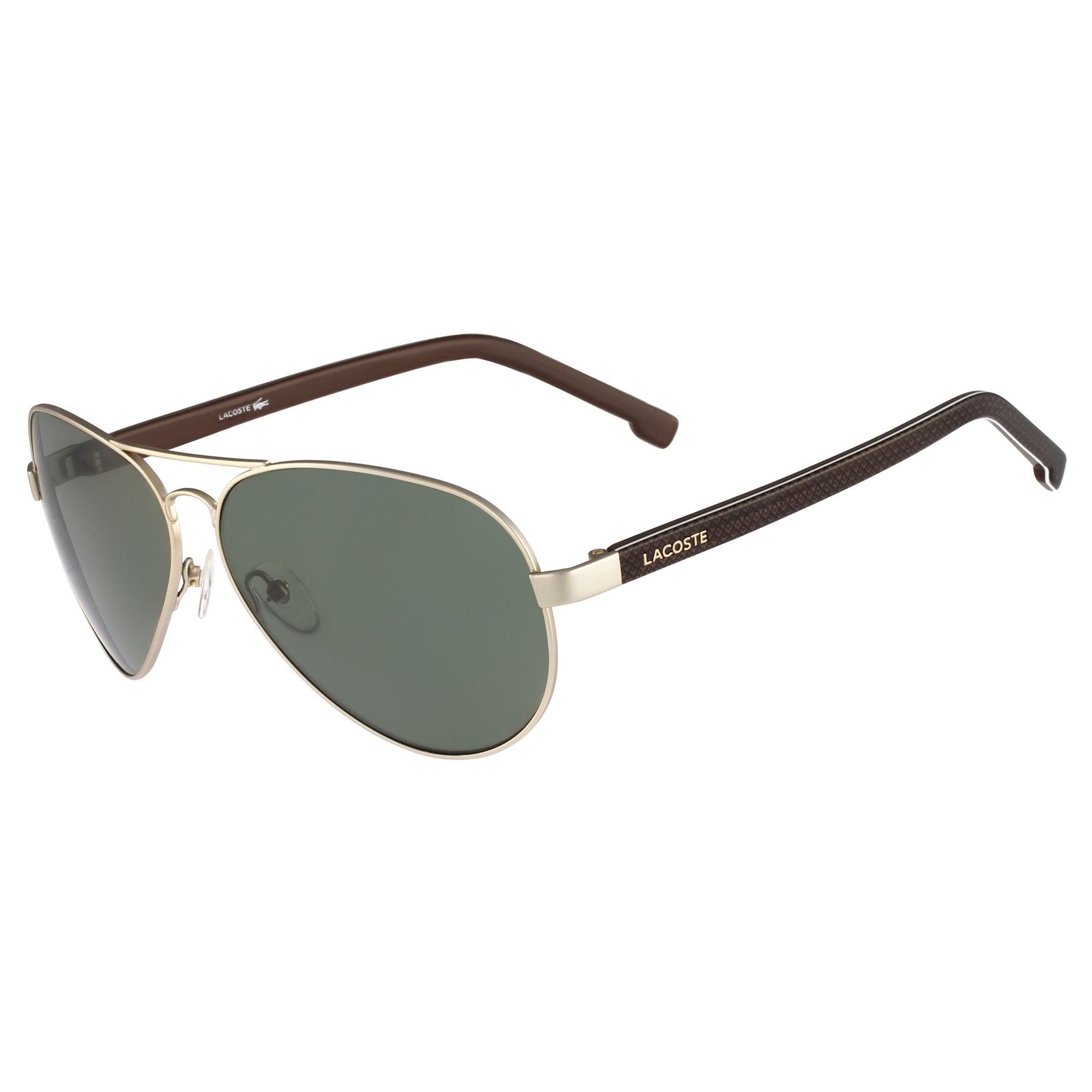 Gold Sunglasses Mens Lacoste Aviator Men Light Gold