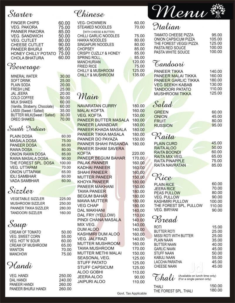 South indian food menu list for Annapurna cuisine culver city ca