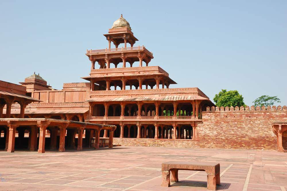 Image result for panch mahal fatehpur sikri