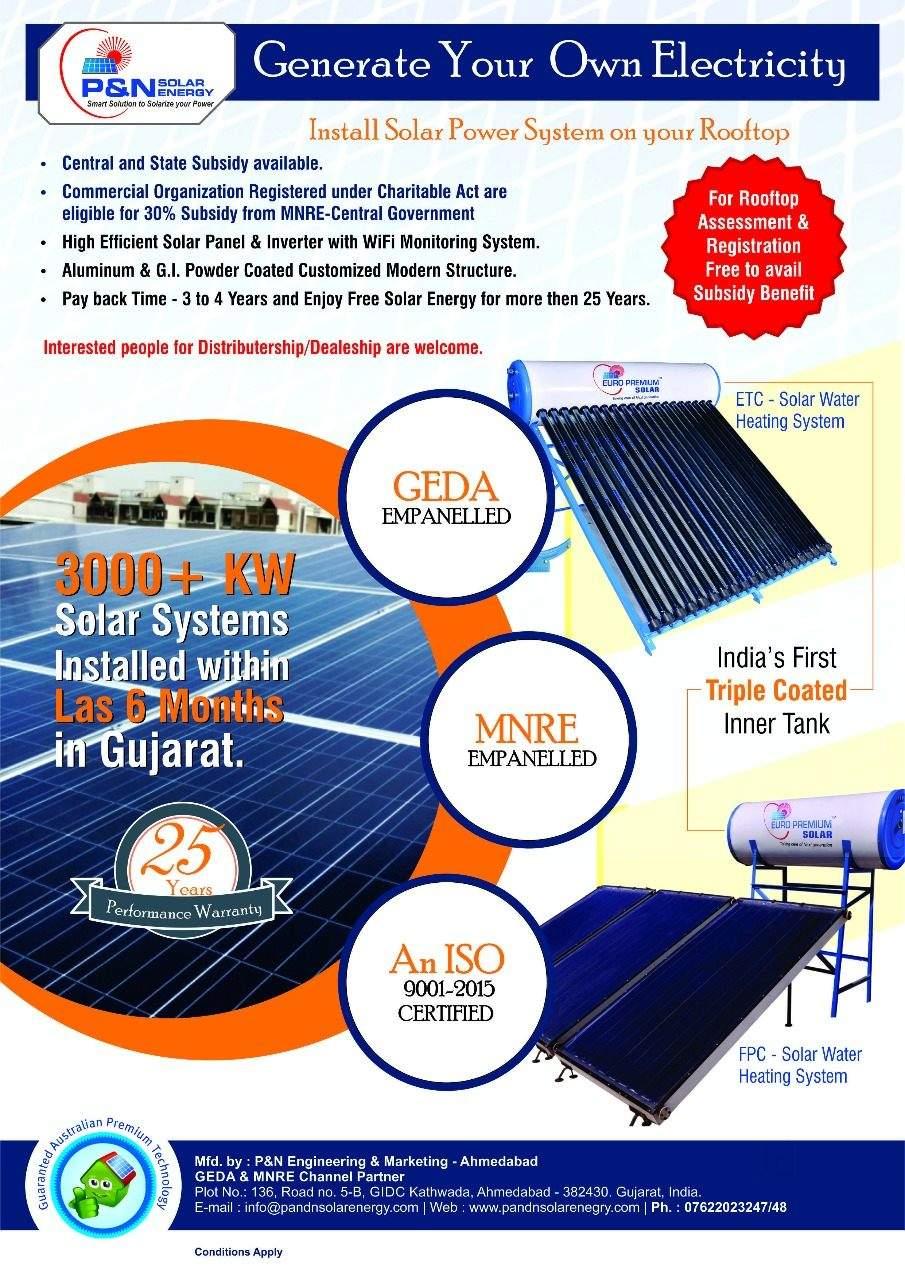 Top 100 Solar Geyser Dealers in Ahmedabad - Best Solar Water