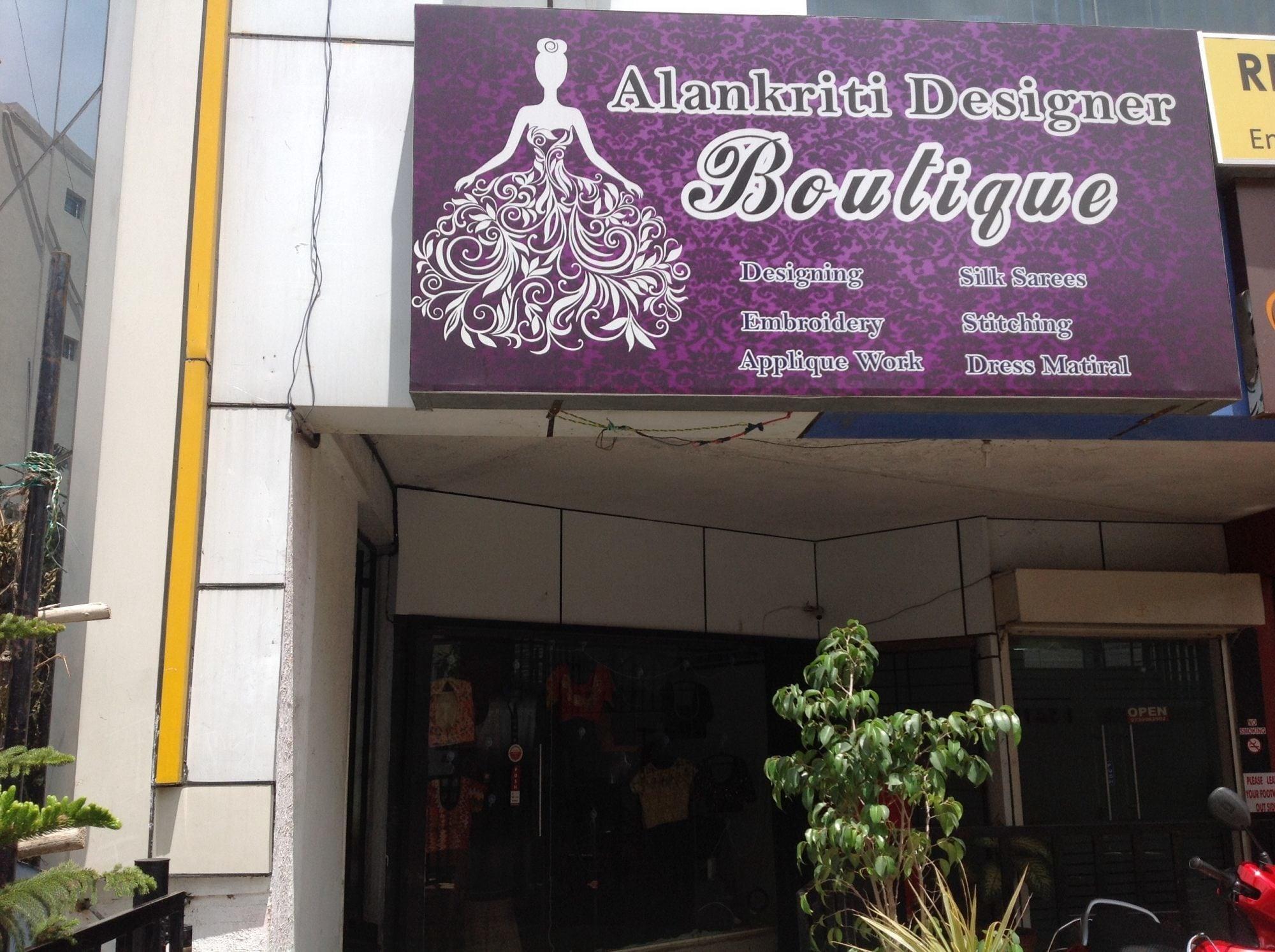 Alankriti Designer Boutique Kasturi Nagar Boutiques In Bangalore Justdial