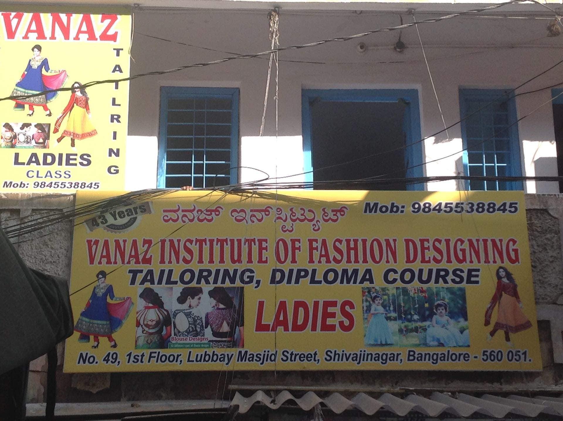 Vanaz Institute Of Fashion Designing And Tailoring Class Shivaji Nagar Tailoring Classes In Bangalore Justdial
