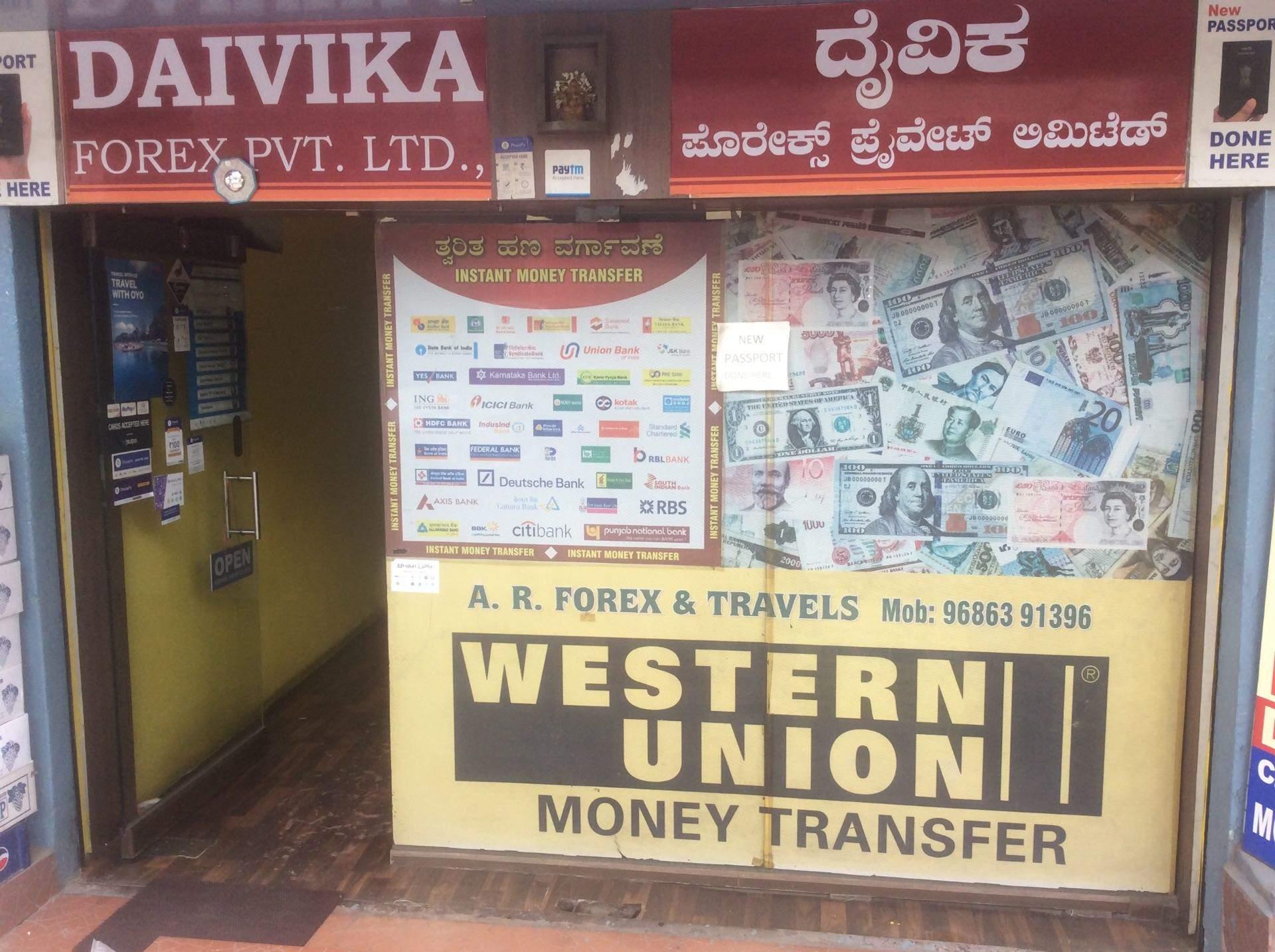 forex banks in bangalore