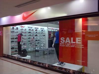 gris Sufijo Verde  Nike Store (Esteem Mall), Hebbal - Sportswear Retailers in Bangalore -  Justdial