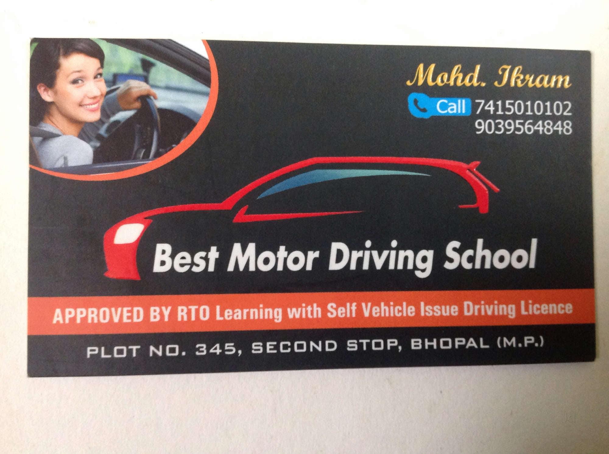 Top 50 Driving Schools in Bhopal - Best Motor Training