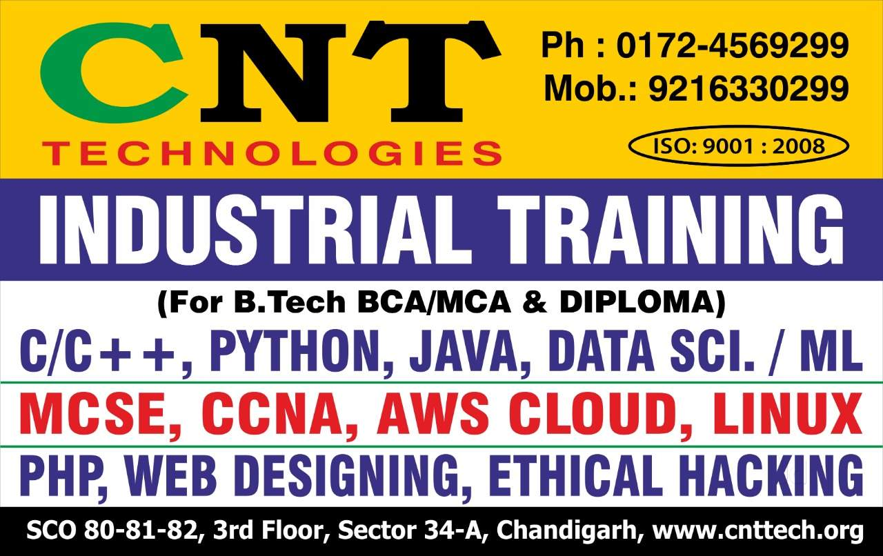 C++ Programming Training Institutes in Chandigarh - Computer