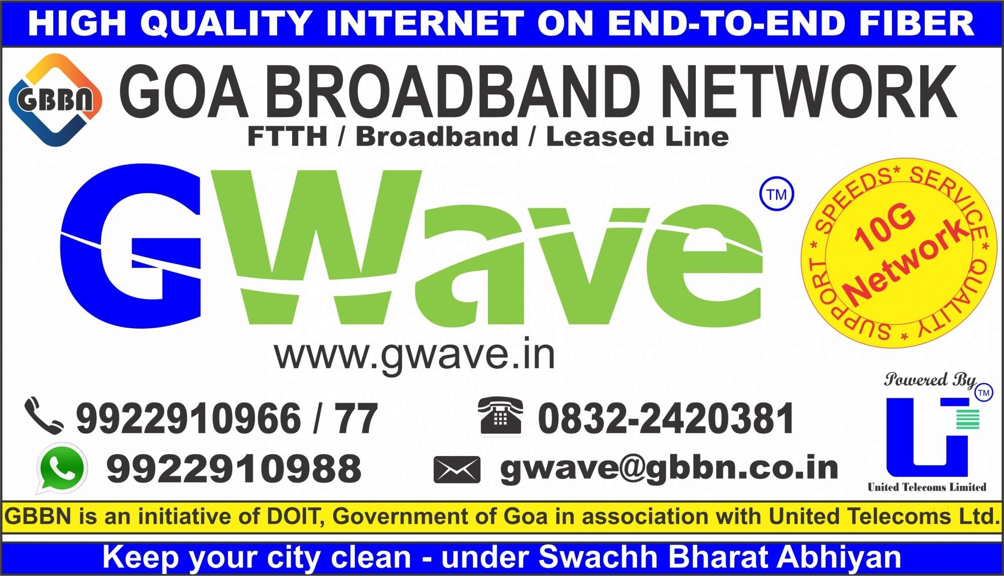 Top Fibre Optic Cabelling Internet Connection Providers in Goa