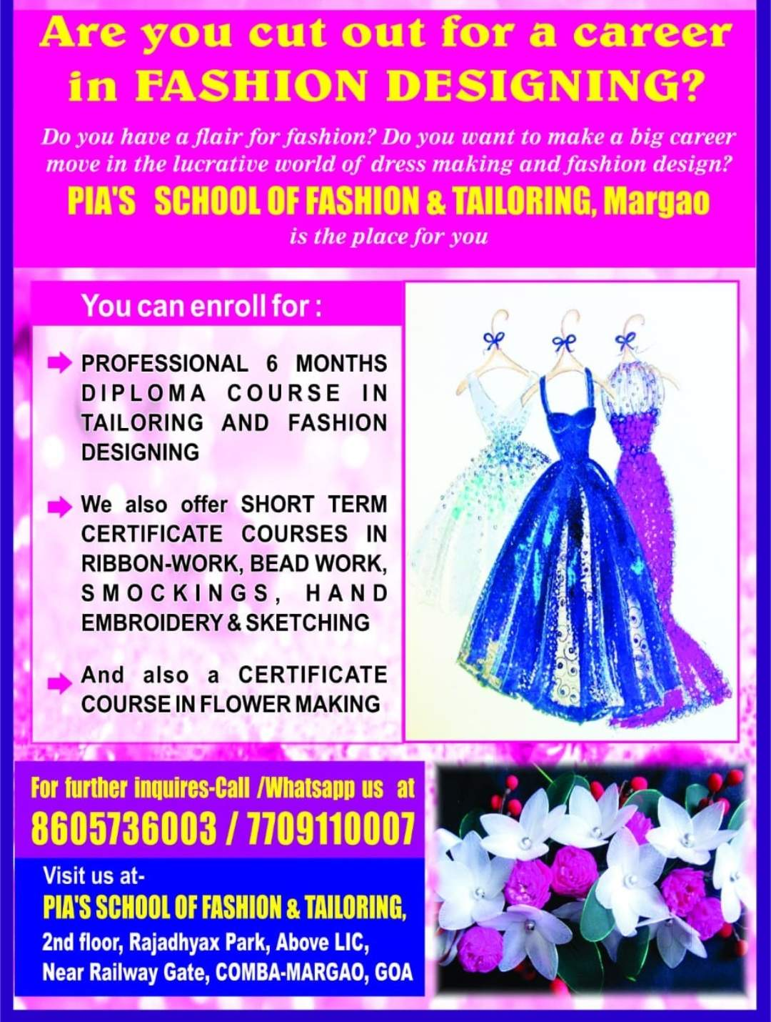 Pia School Of Fashion And Tailoring Margao Schools In Goa Justdial
