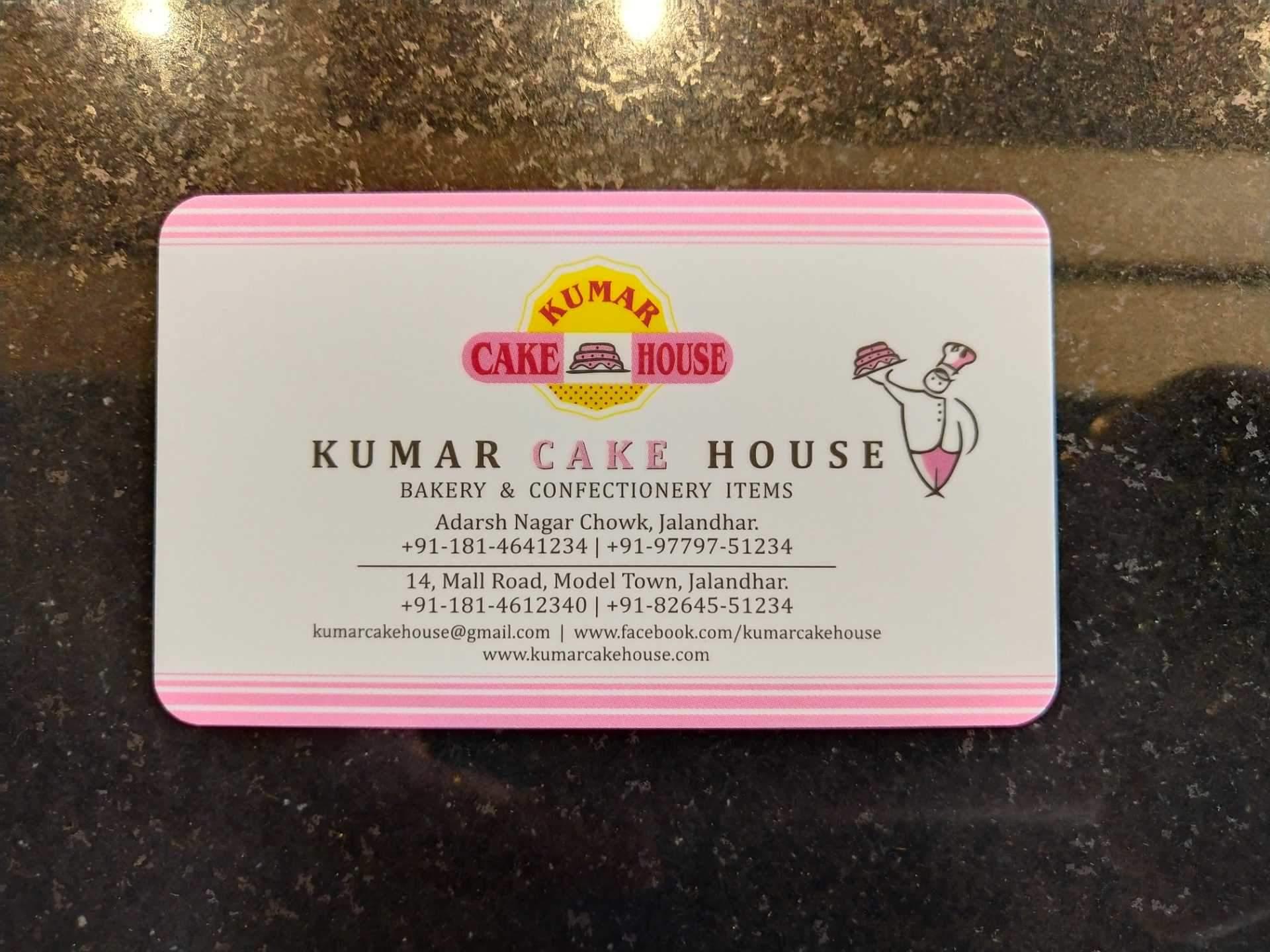 Kumar Cake House Model Town Jalandhar Eggless Pastry