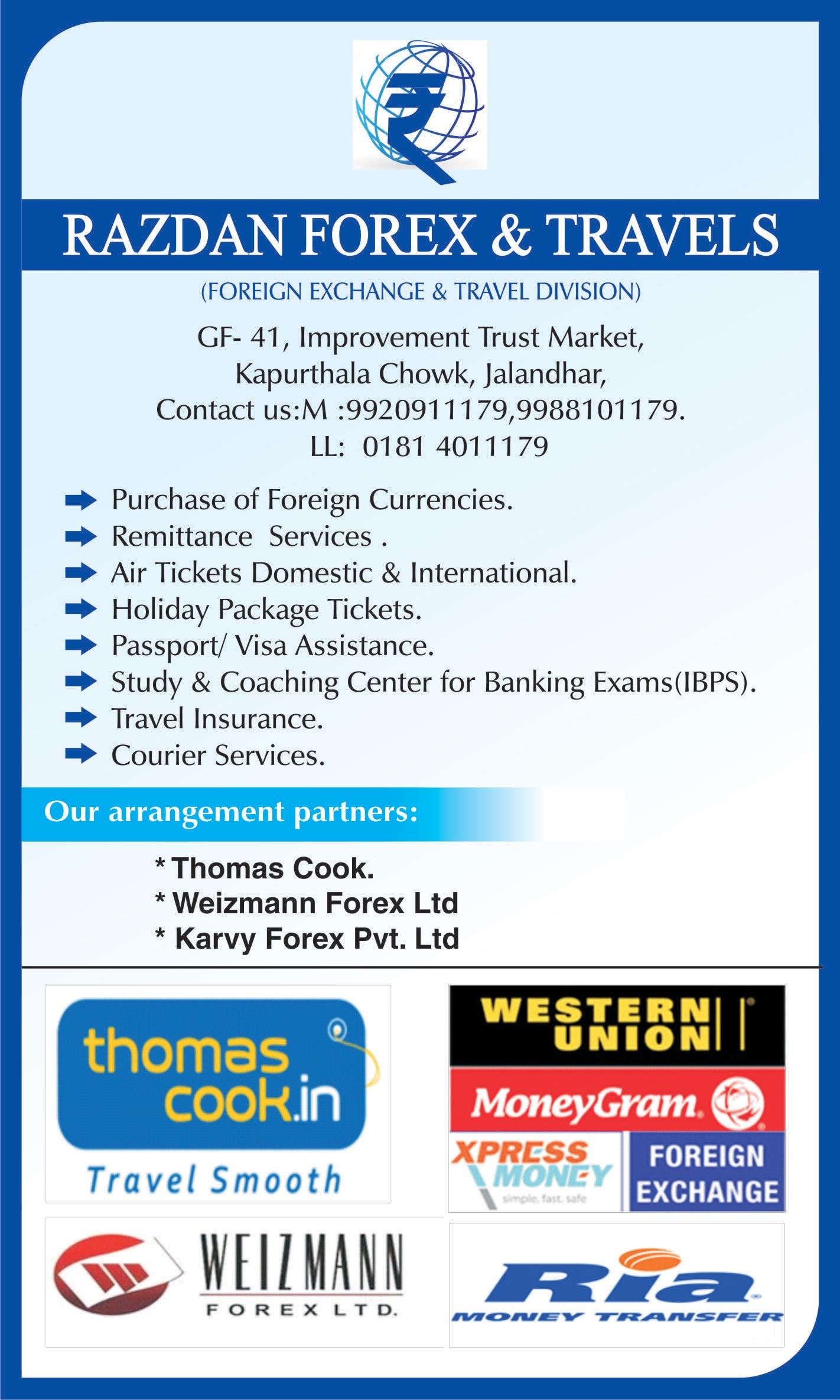 Ria Money Transfer Agencies In Jalandhar
