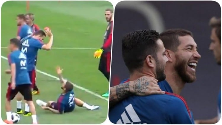a828d6e908e  Full David Brent  – Sergio Ramos mocked mercilessly during World Cup game  by fans on Twitter for new goatee