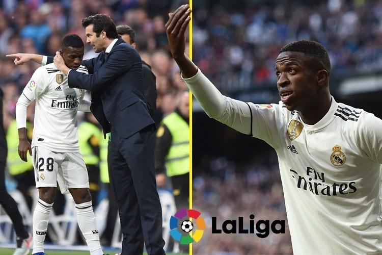 9d4f7b34bd9 Real Madrid s Vinicius Junior  transmits joy  with his football - Santiago  Solari
