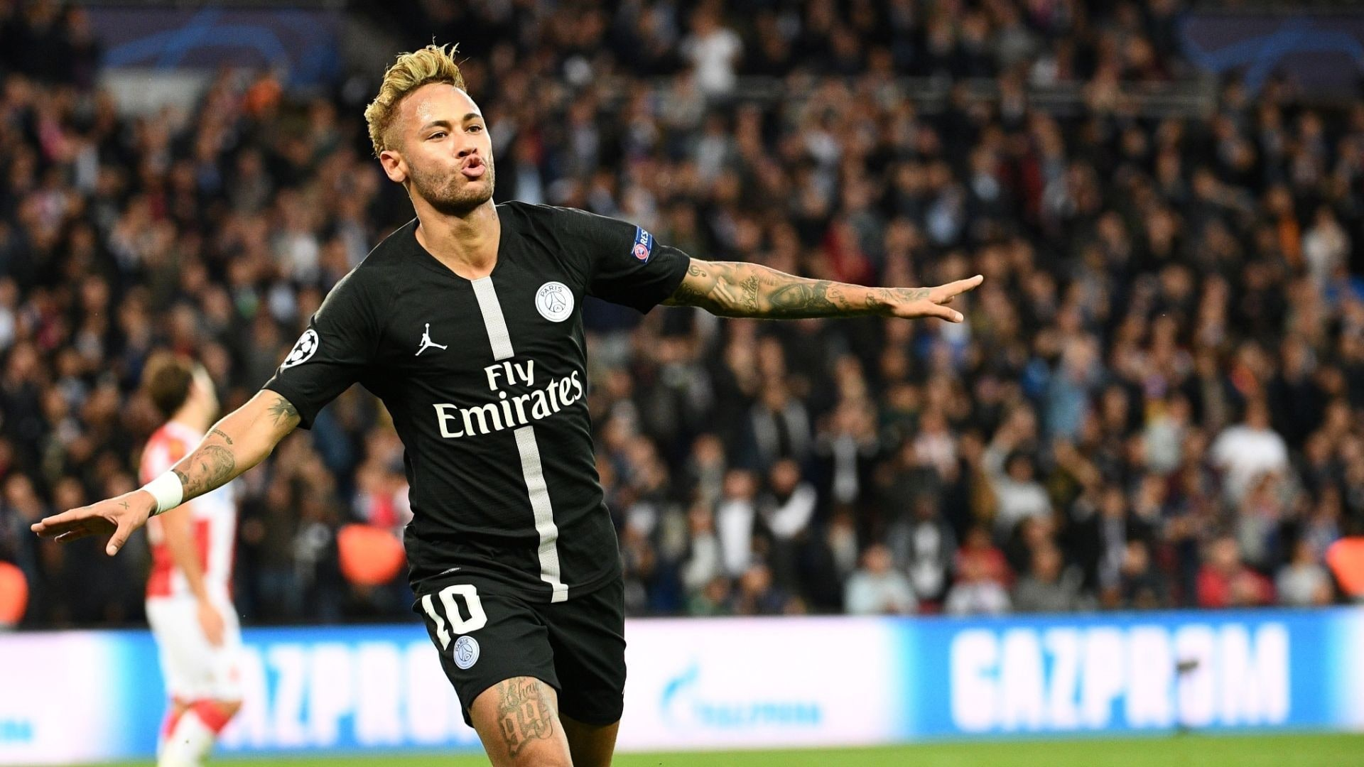 6ec5483be13 Neymar s hat trick leads PSG s rout of Red Star Belgrade