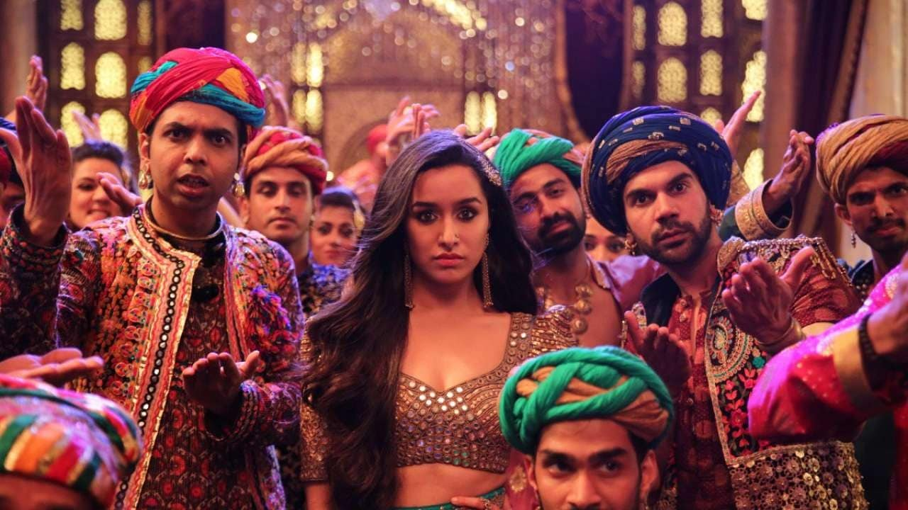 1b51f83766aea  Stree  promotions  Shraddha Kapoor tries to give gothic vibes in this  pyjama suit
