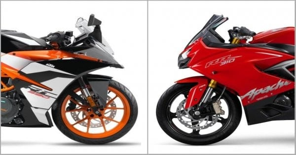 Choosing between the TVS Apache RR310, KTM RC390 and the