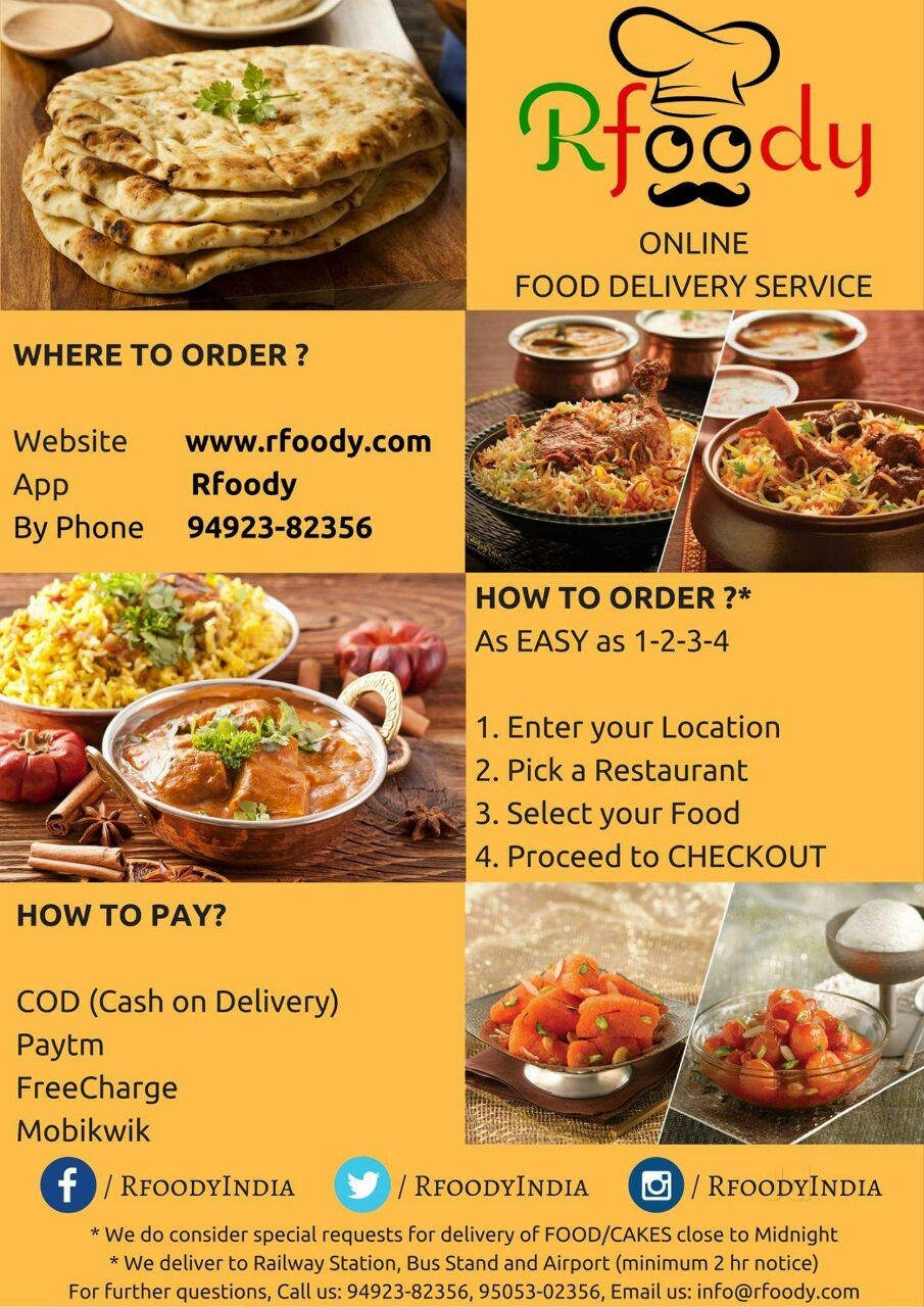 24 Hours Home Delivery Restaurants In Rajahmundry