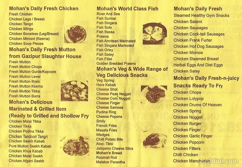 Mohan Meat And Chicken Palace Punjabi Bagh Extension Delhi Food