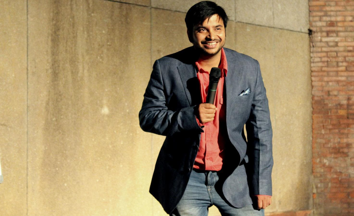 Simple Exhibition Stand Up Comedy : Sundeep sharma comedy artists entertainment
