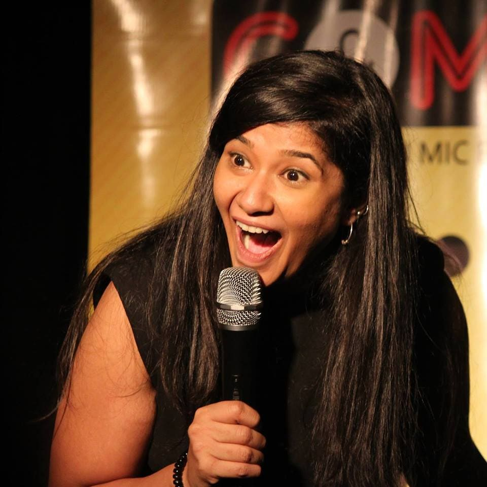 Simple Exhibition Stand Up Comedy : Jeeya sethi comedy artists entertainment