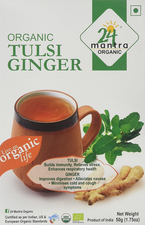 24 Mantra Organic Tulsi & Ginger Tea 50 Gm