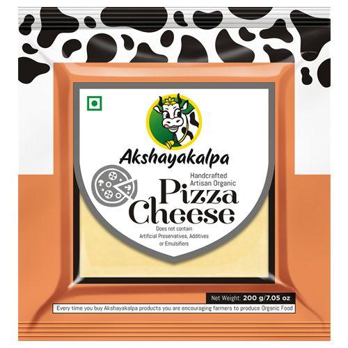 Akshayakalpa Cheese Organic Mozzarella/ Pizza Cheese 200 Gm