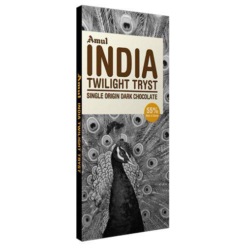Amul India Twilight Tryst Single Origin Dark Chocolate 125 Gm