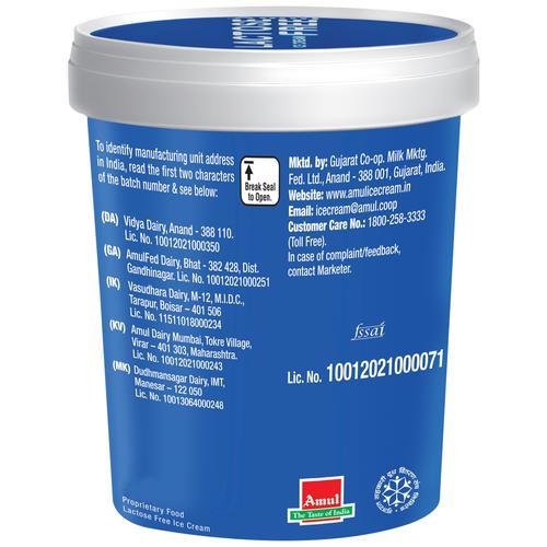 Amul Lactose Free Ice Cream (Cup)