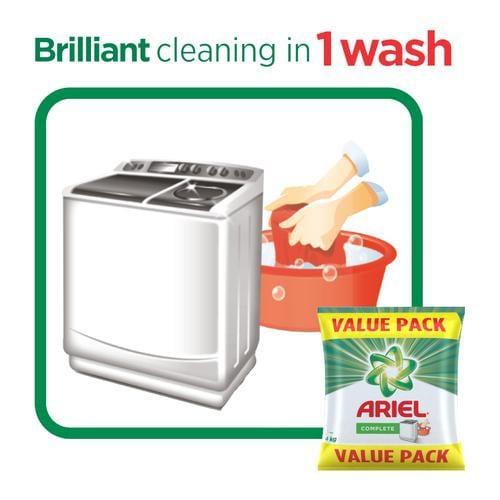 Ariel Complete Detergent Washing Powder Value Pack 4 Kg
