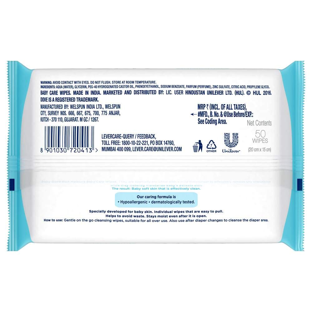 Baby Dove Rich Moisture Baby Wipes