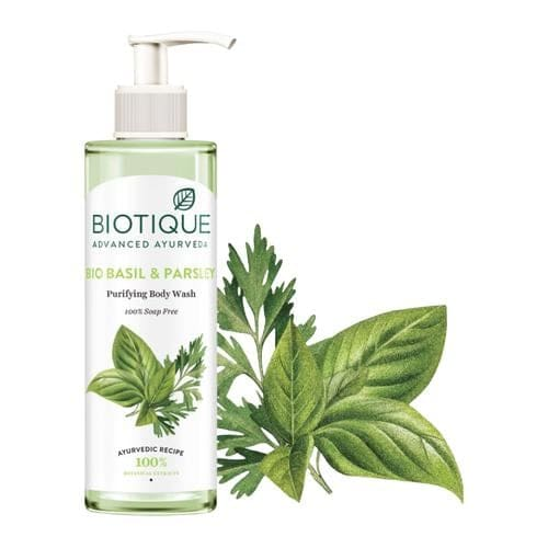 BIOTIQUE Bio Basil & Parsley Purifying Body Wash 200 Ml