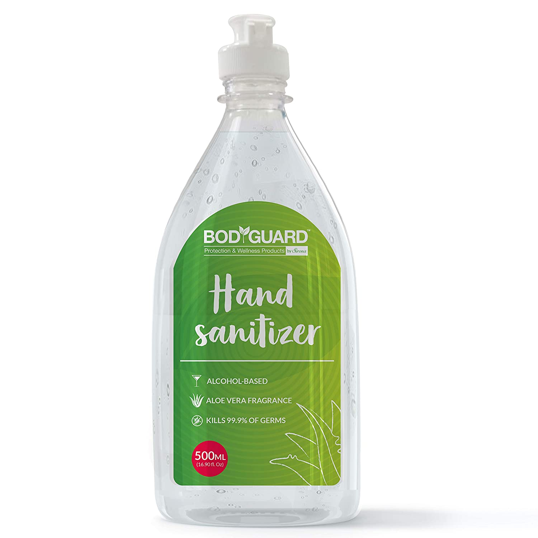 BodyGuard Alcohol Based Hand Sanitizer With Aloe Vera 500 Ml