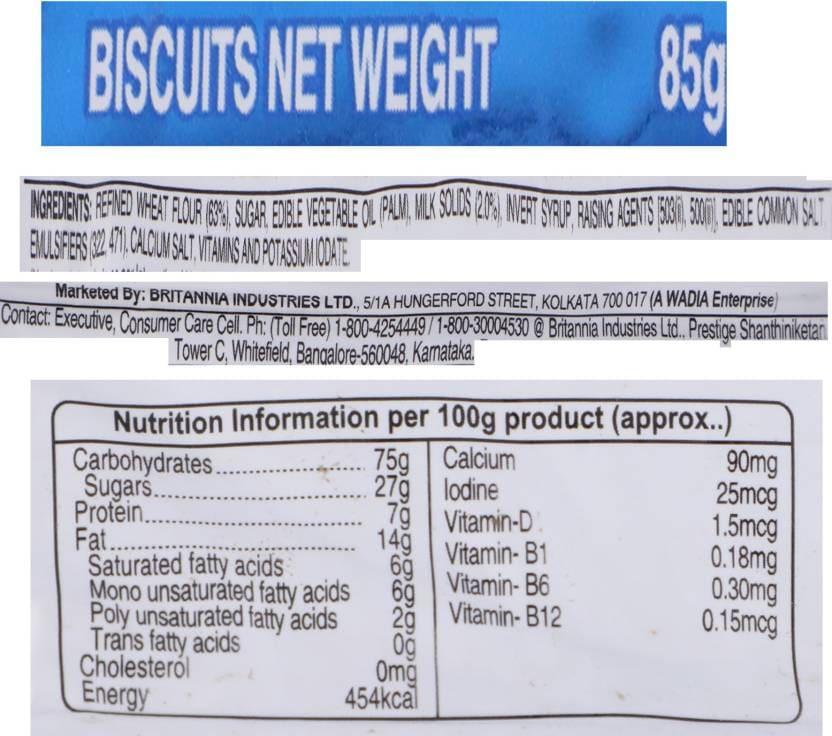 Britannia Milk Bikis Biscuits 85 Gm