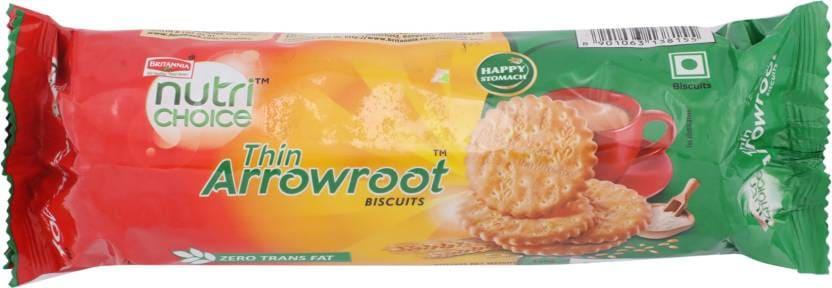 Britannia Nutri Choice Thin Arrowroot Biscuits 150 Gm