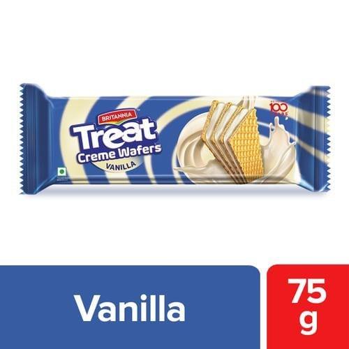 Britannia Treat Creme Wafers Vanilla 75 Gm