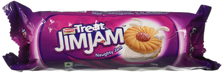 Britannia Treat Jim Jam Biscuits 100 Gm