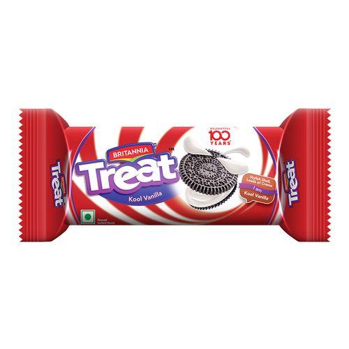 Britannia Treat Vanilla Cream Biscuit 100 Gm