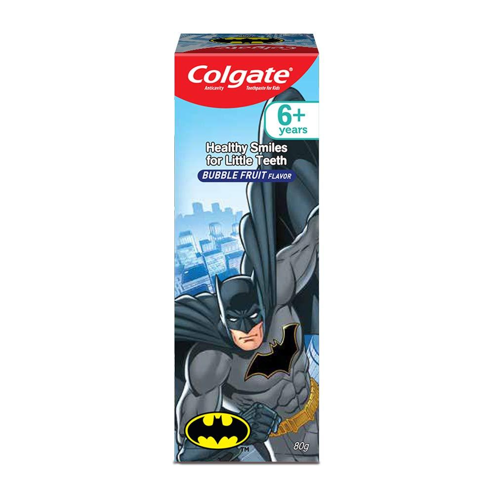 Colgate Anticavity Kids Batman Bubble Fruit Flavor Toothpaste 80 Gm