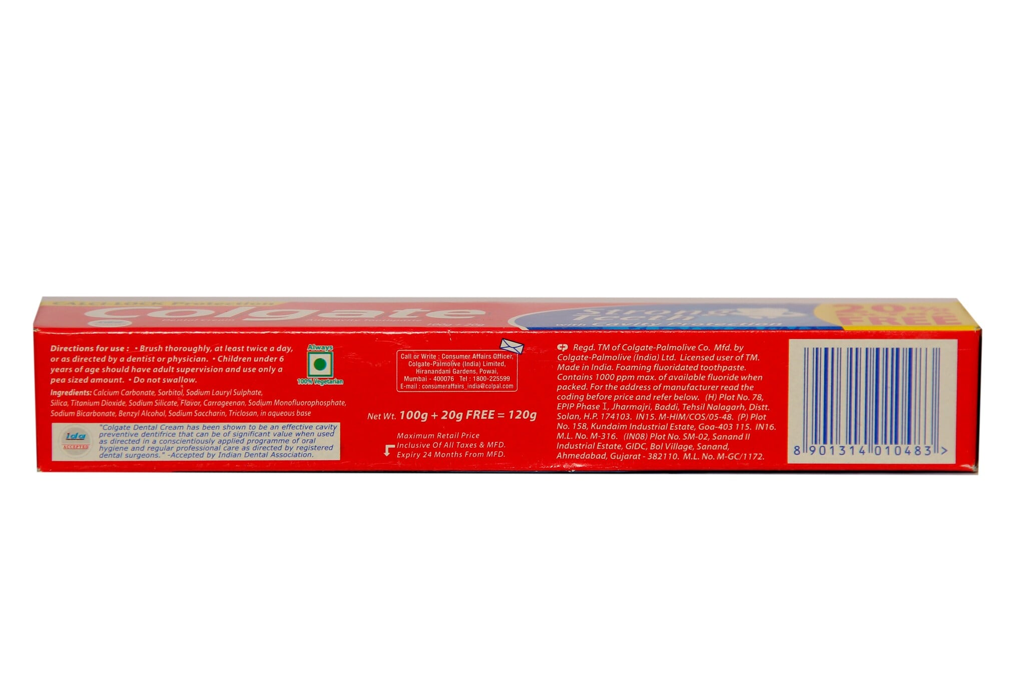 Colgate Strong Teeth Cavity Protection Toothpaste 120 Gm