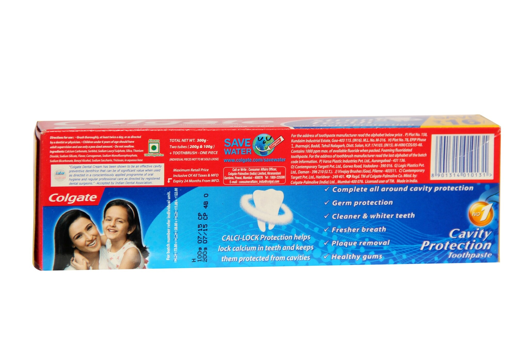 Colgate Strong Teeth Cavity Protection Toothpaste With Toothbrush 300 Gm