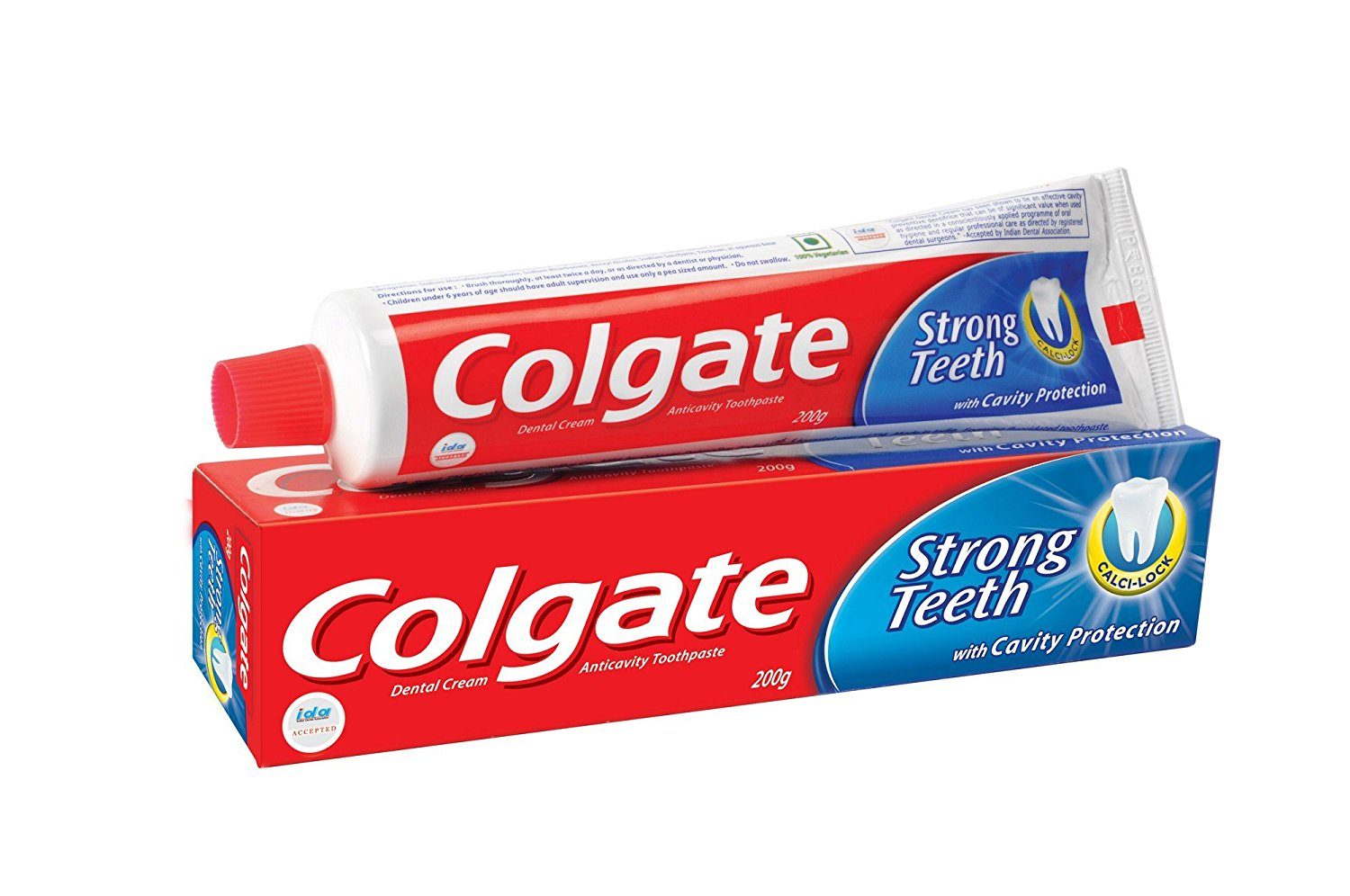 Colgate Strong Teeth Toothpaste With Cavity Protection 200 Gm