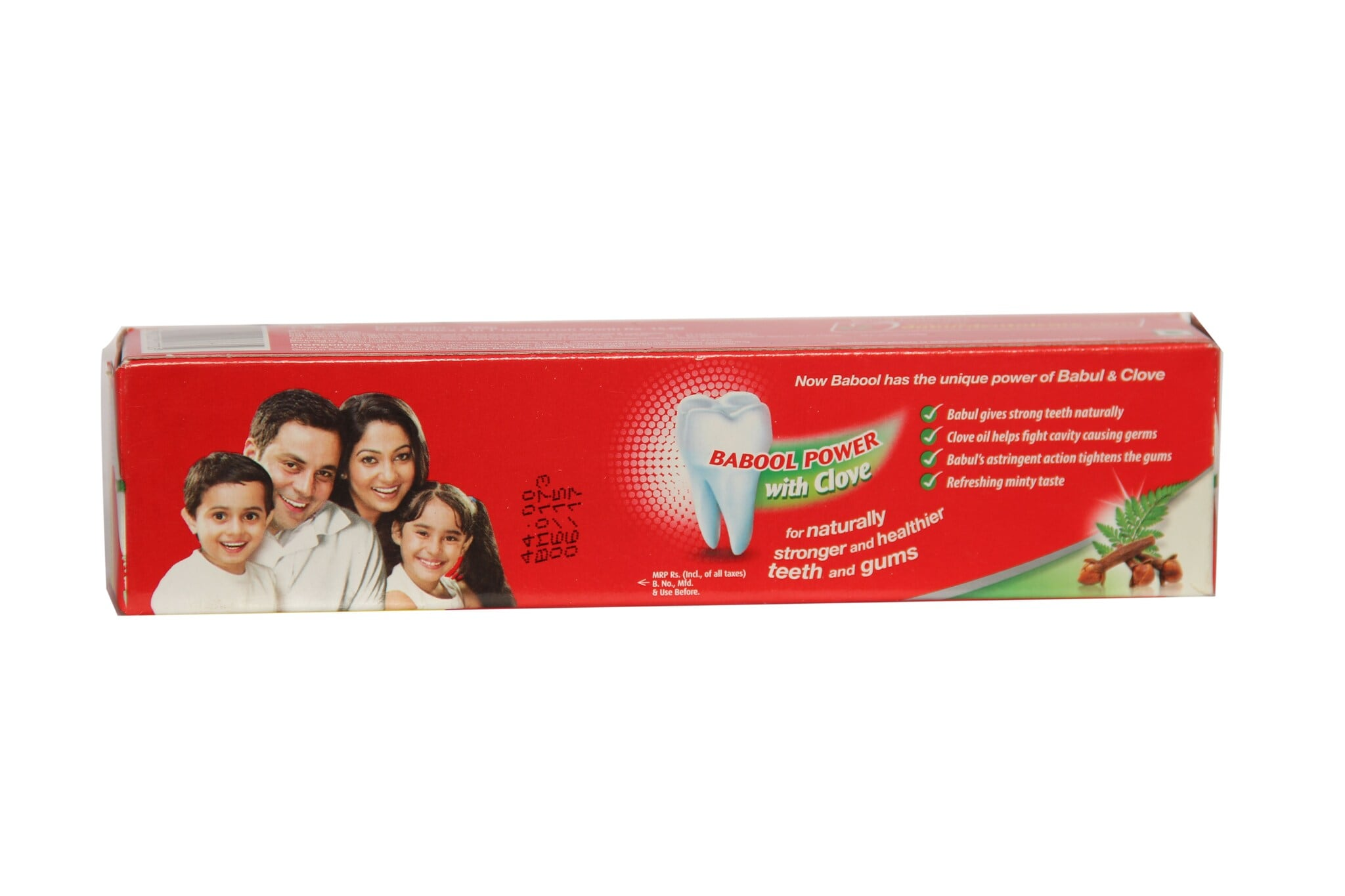 Dabur Babool Clove Powder Toothpaste With 2-in-1 Toothbrush 180 Gm