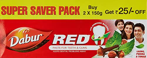 Dabur Red Toothpaste (Pack Of 2) 300 Gm