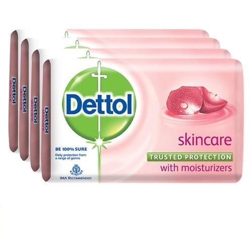 Dettol Skincare Bathing Bar Soap (Pack Of 4)